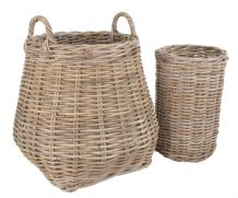 Berkeley Log & Kindling Rattan Baskets
